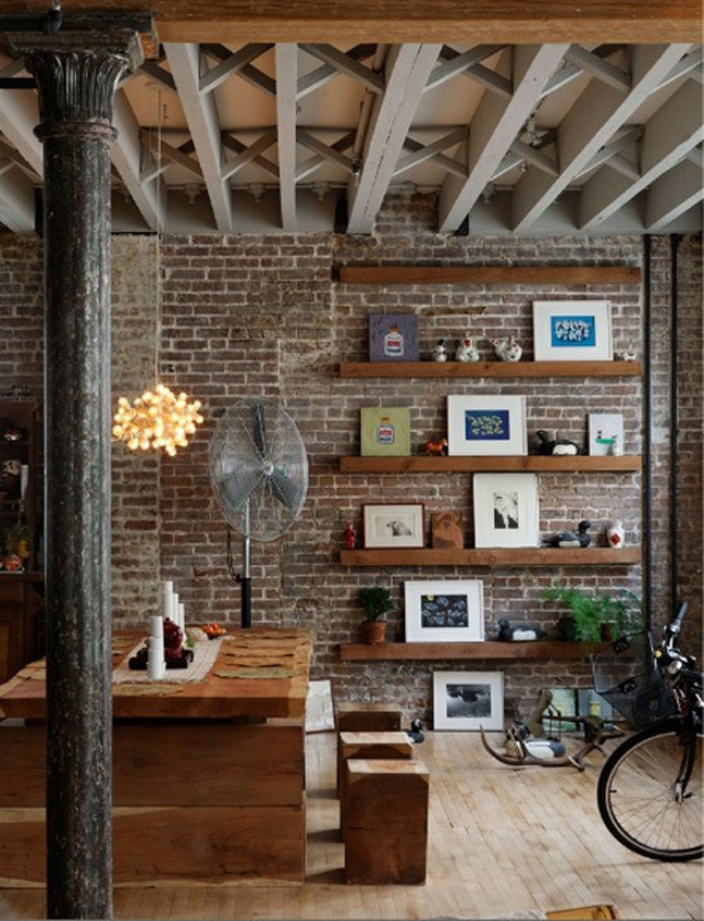 Paredes interiores de ladrillodecoraddiction for Interior brick wall designs