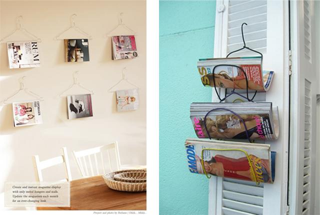 Revisteros originalesdecoraddiction - Perchas pared originales ...