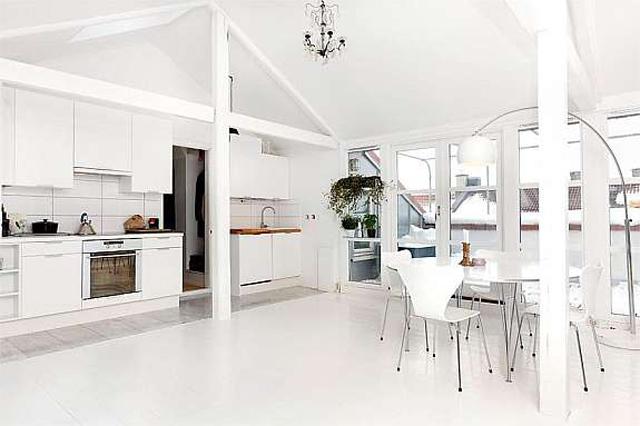 Un loft abuhardillado de estilo n rdicodecoraddiction - Dormitorios estilo nordico ...