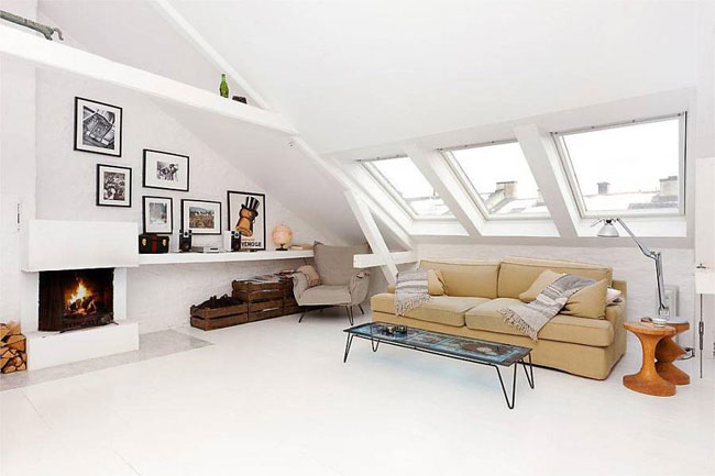 loft nordico_salon chimenea