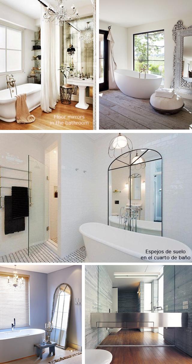 Floor mirrors_cuarto de baño