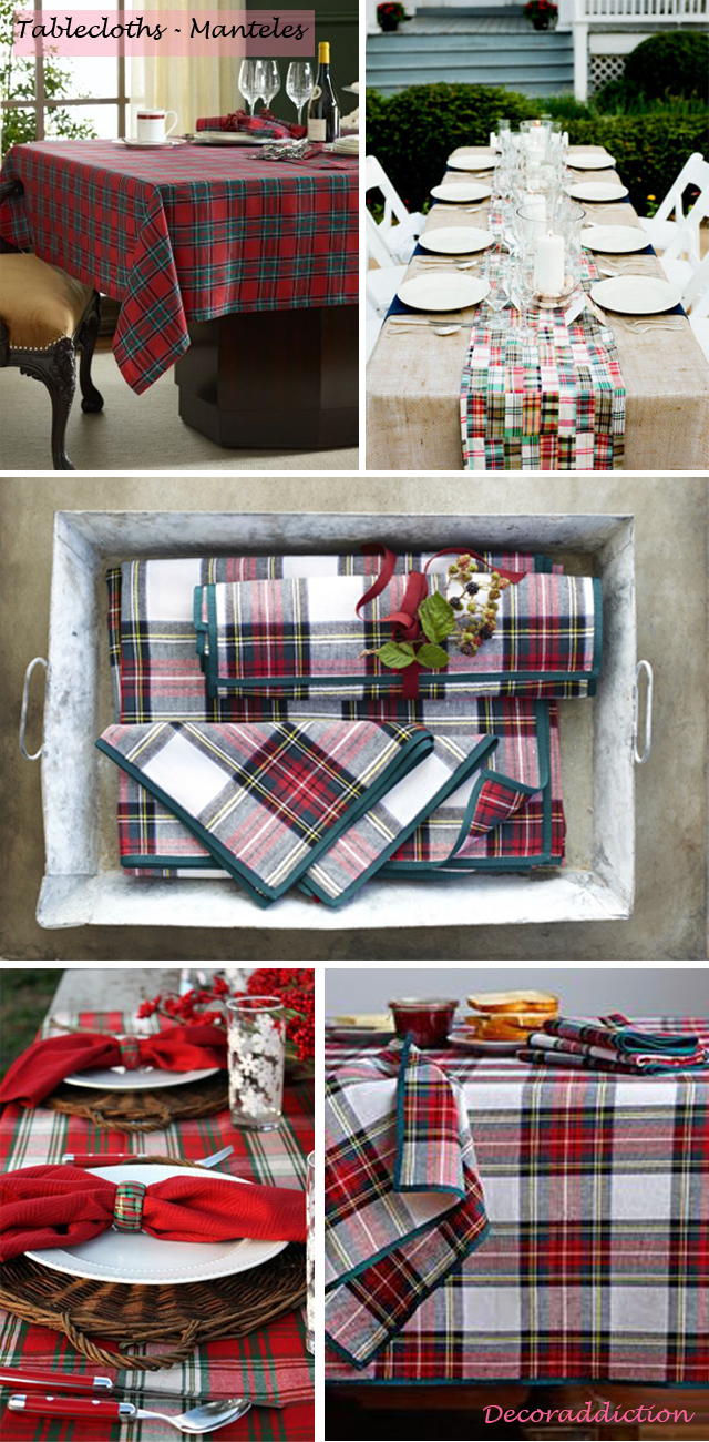 Tartan everywhere_tablecloths