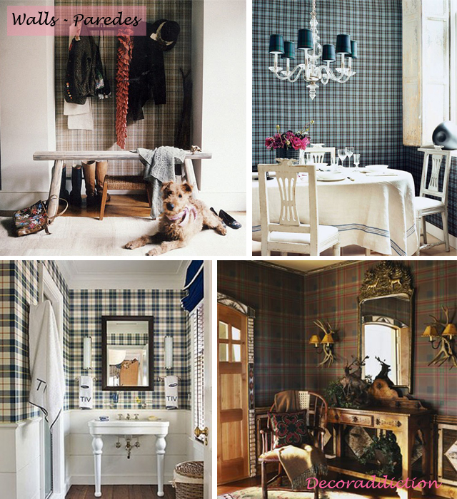Tartan everywhere_walls