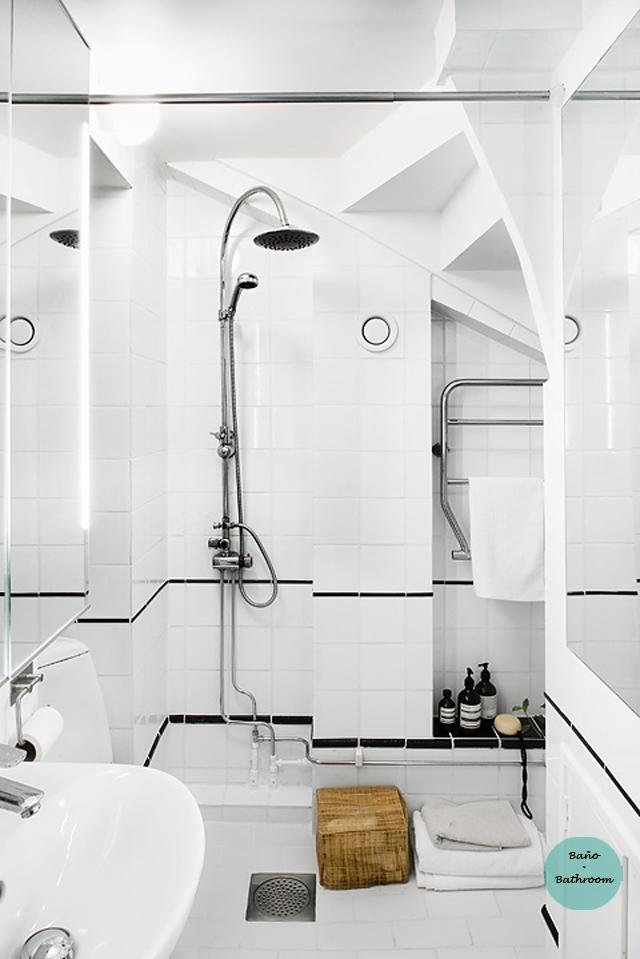 Ático nórdico con toques rústicos - Nordic attic with rustic touches_baño