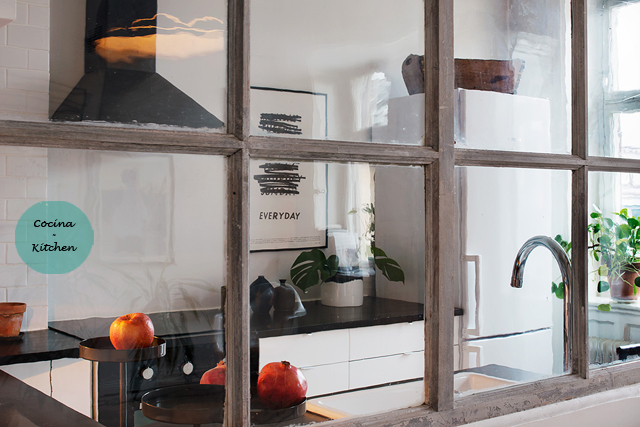 Ático nórdico con toques rústicos - Nordic attic with rustic touches_cocina