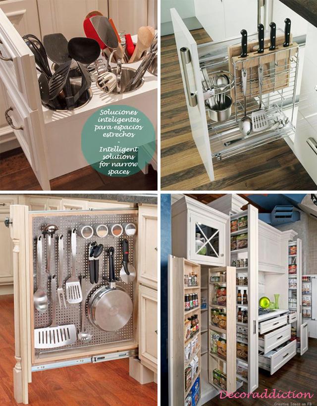 81 orden ideas de almacenaje para la cocina organisation for Ideas de cocinas para espacios pequenos
