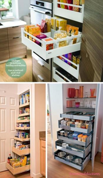 81_Orden*Ideas de almacenaje para la cocina - Organisation*Kitchen storage ideas_utiliza prácticas baldas extraíbles