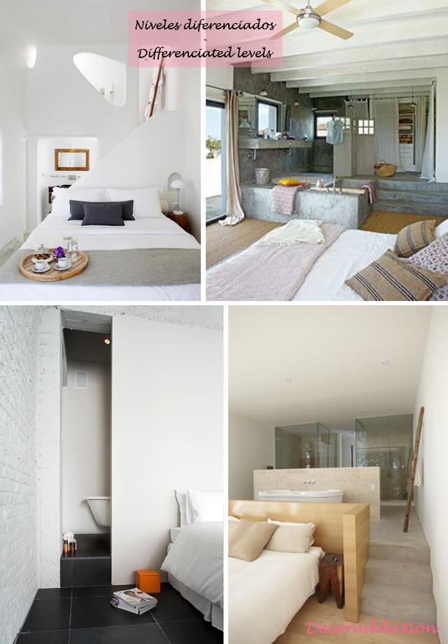 Baños integrados en el dormitorio - Bathrooms integrated in the bedroom_dos alturas