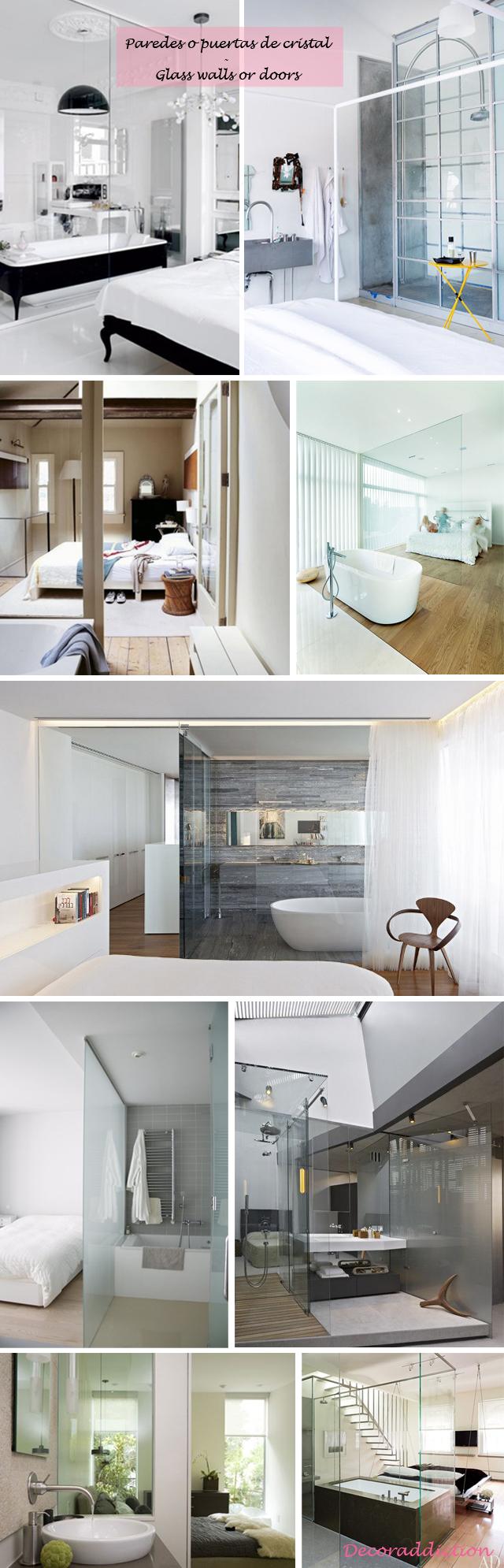 Baños integrados en el dormitorio - Bathrooms integrated in the bedroom_paredes de cristal