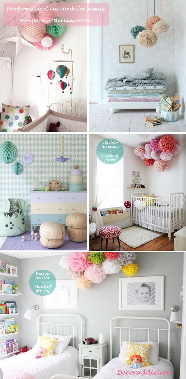 Idea low cost & DIY - Decora con pompones - Decorate with pompons_cuarto peques