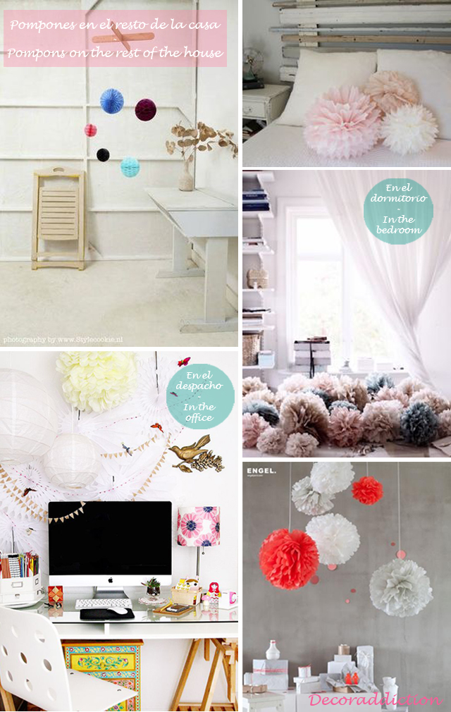 Idea low cost & DIY - Decora con pompones - Decorate with pompons_otras estancias