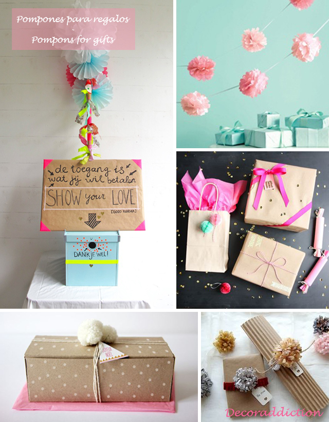Idea low cost & DIY - Decora con pompones - Decorate with pompons_regalos