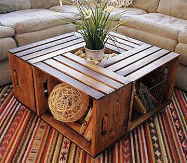 Mesa de centro reciclada - Recycled coffee table_02