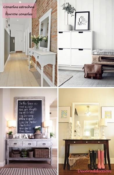 *My new home* Recibidores de bajo coste - Low cost halls_consolas estrechas