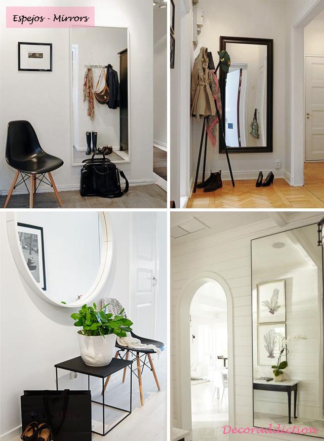 *My new home* Recibidores de bajo coste - Low cost halls_espejos