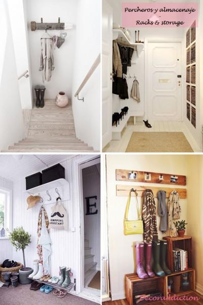 *My new home* Recibidores de bajo coste - Low cost halls_percheros y almacenaje