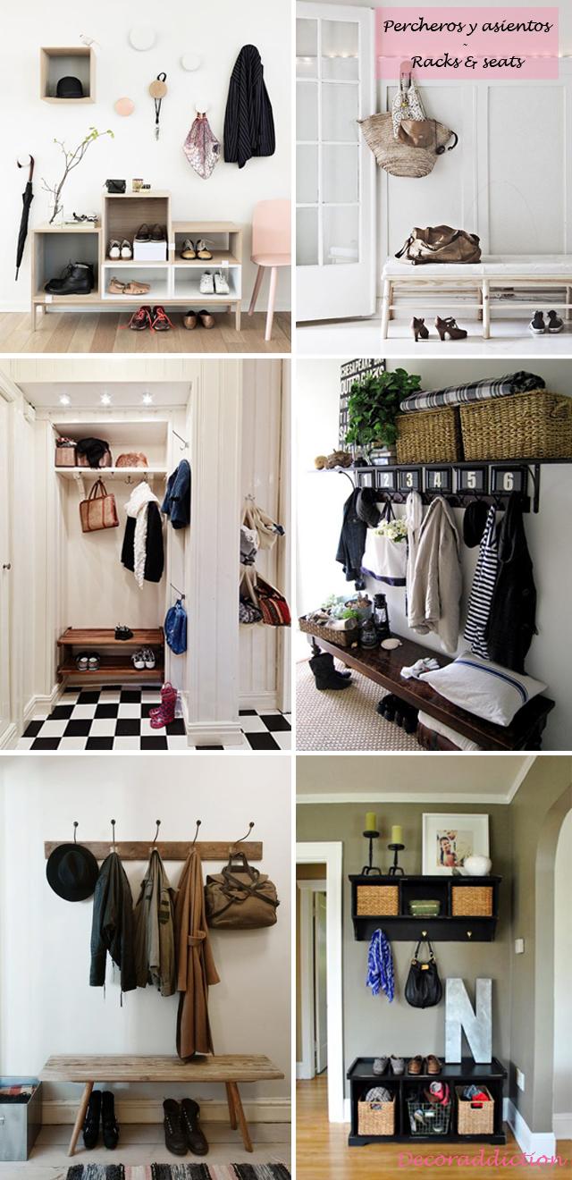 *My new home* Recibidores de bajo coste - Low cost halls_percheros y bancos