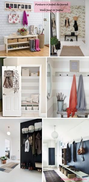 *My new home* Recibidores de bajo coste - Low cost halls_pintura o papel de pared