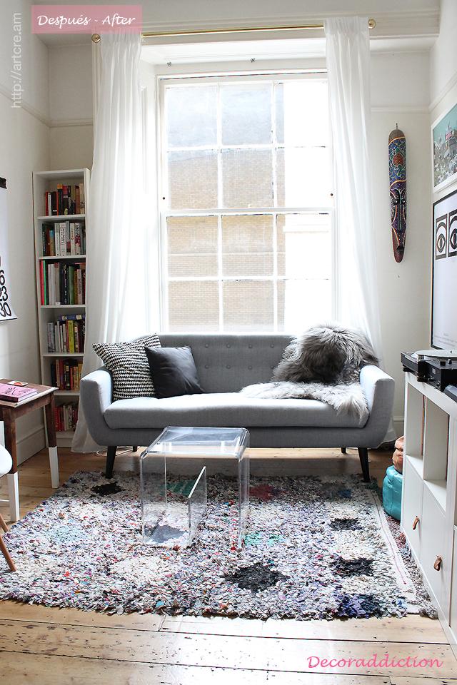 Antes y después de un salón - Before and after of a living room_despues
