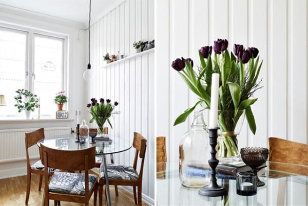 Apartamento nórdico muy femenino - Nordic and very feminine apartment_cocina 1