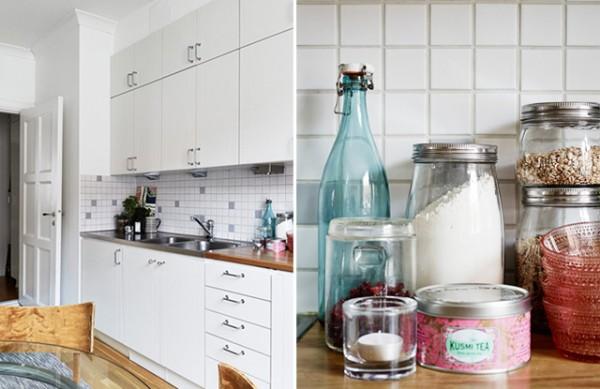 Apartamento nórdico muy femenino - Nordic and very feminine apartment_cocina 2