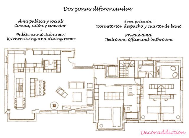 Casa retro-moderna de madera clara - Retro-modern light wood house_plano