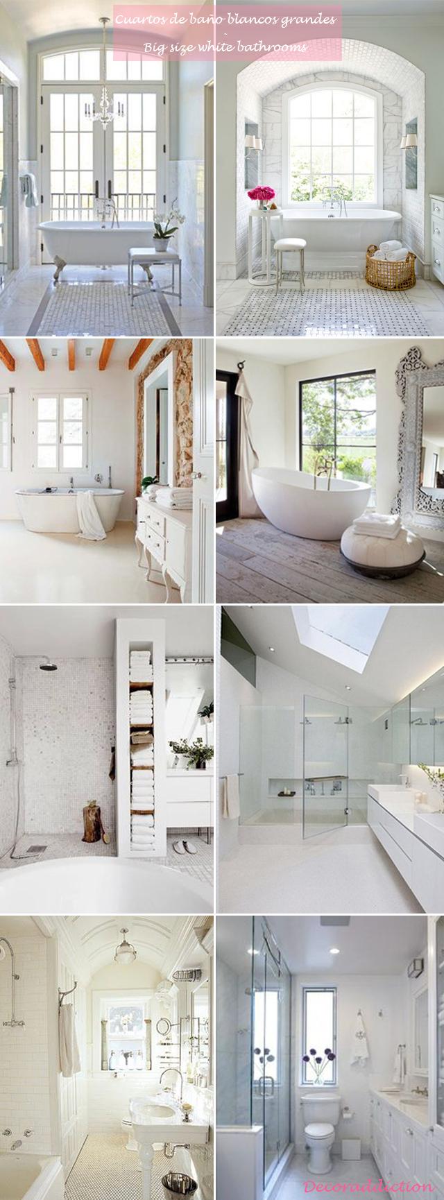 Me encantan los cuartos de baño blancos // I love white ...