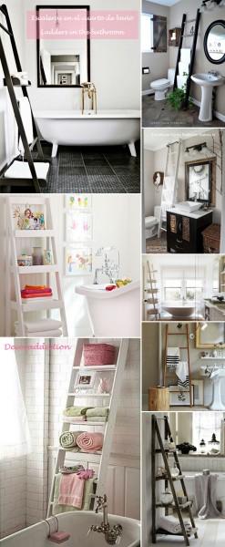 *My new home* Reciclar antiguas escaleras - Recycle old ladders_baño