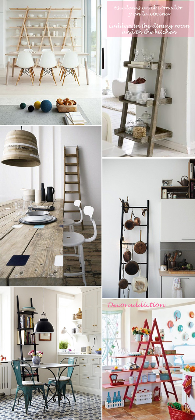 *My new home* Reciclar antiguas escaleras - Recycle old ladders_comedor y cocina1