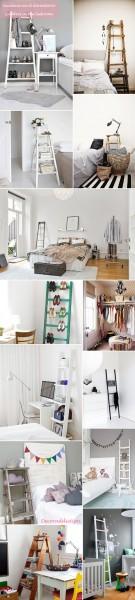 *My new home* Reciclar antiguas escaleras - Recycle old ladders_dormitorio