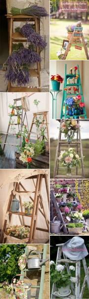 *My new home* Reciclar antiguas escaleras - Recycle old ladders_plantas