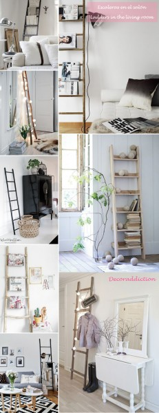 *My new home* Reciclar antiguas escaleras - Recycle old ladders_salon