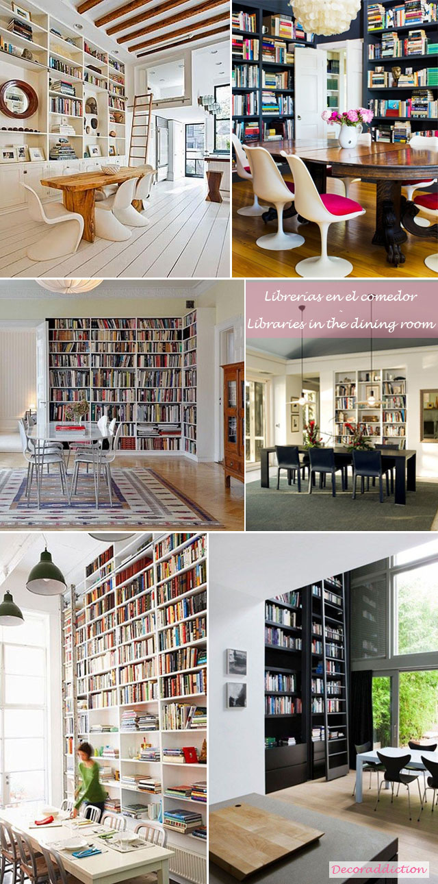 Librerías en casa - Libraries at home_comedor
