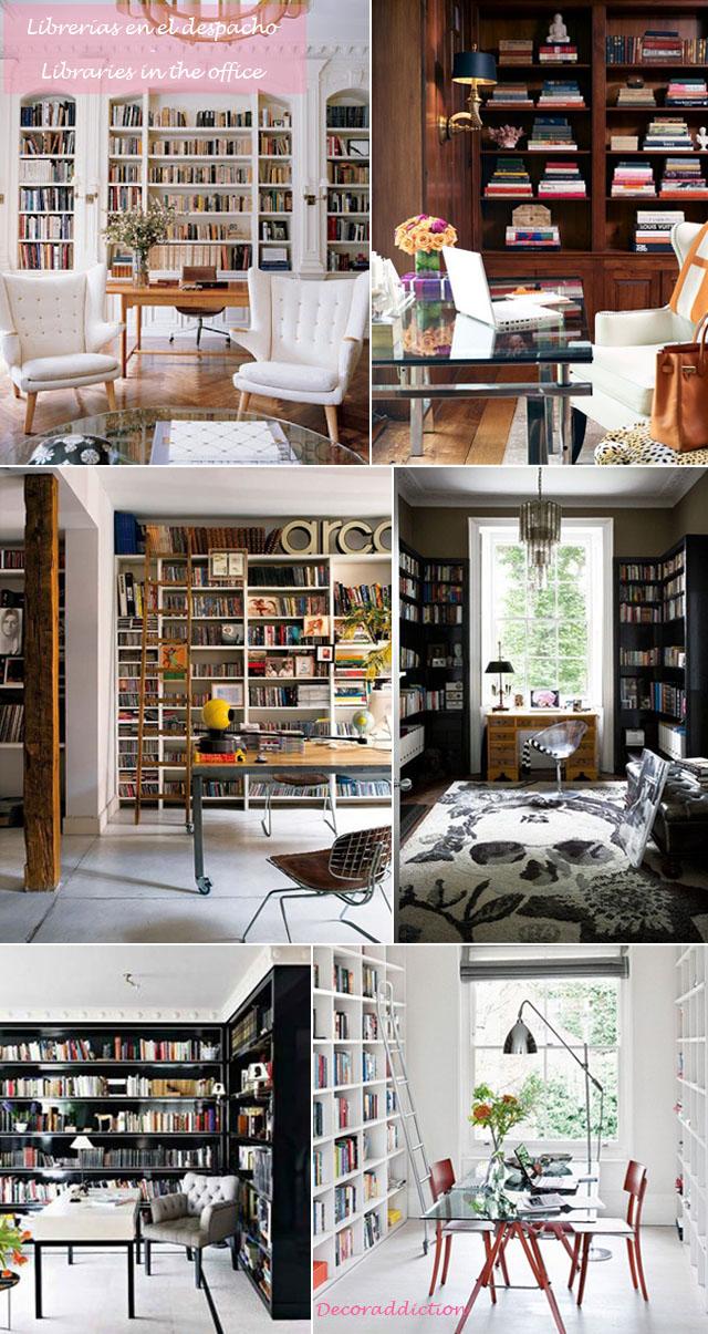 Librerías en casa - Libraries at home_despacho