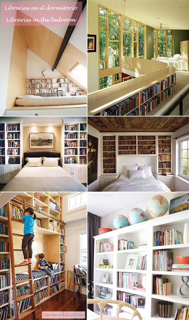 Librerías en casa - Libraries at home_dormitorio