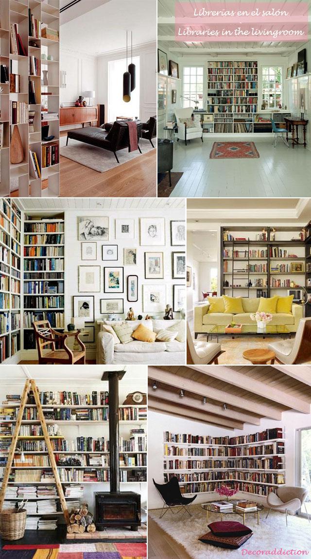 Librerías en casa - Libraries at home_salon
