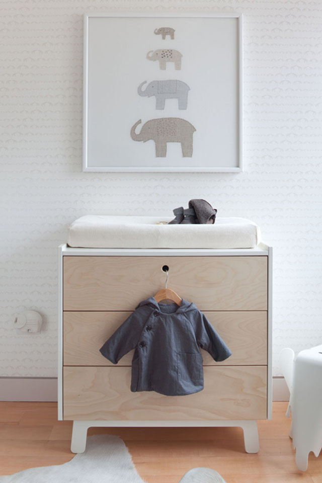 Dormitorio de bebé en colores neutros - Neutral colors baby's room_02