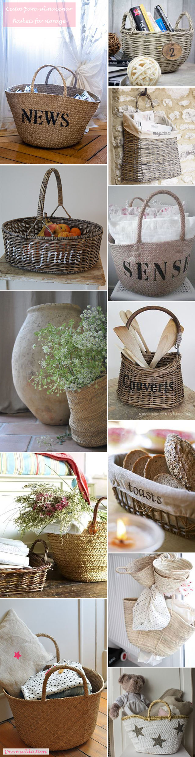 *My new home* Decorar con cestos - Decorate with baskets_almacenamiento