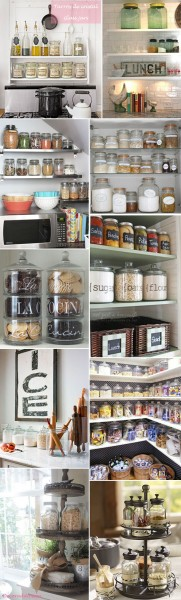 *My new home* Organizar con tarros de cristal - Organize with glass jars