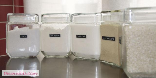 *My new home* Organizar con tarros de cristal - Organize with glass jars_13