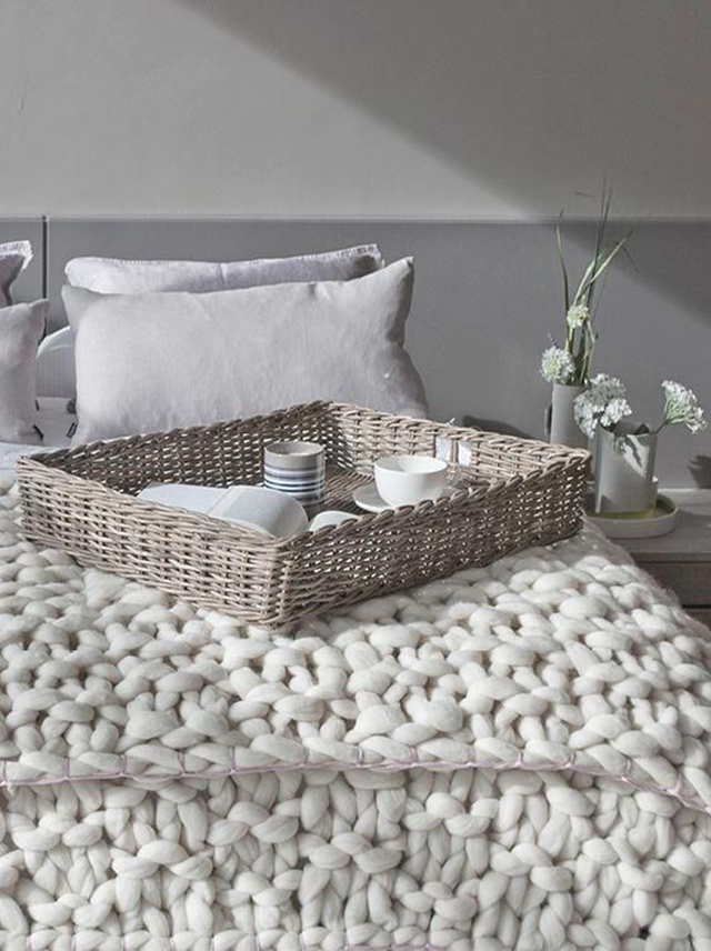 Mantas de punto en el dormitorio - Knit blankets in the bedroom_01