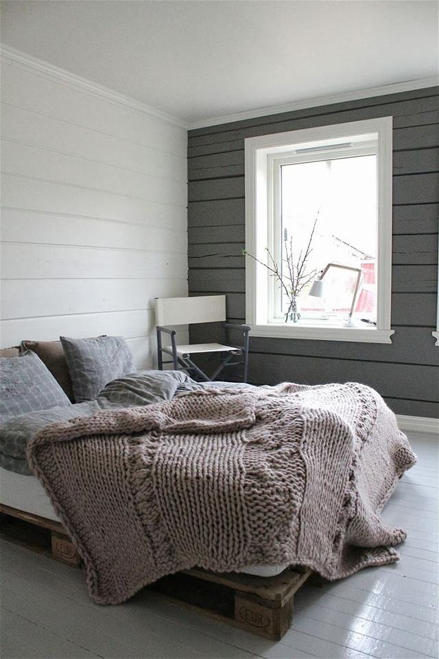 Mantas de punto en el dormitorio - Knit blankets in the bedroom_02